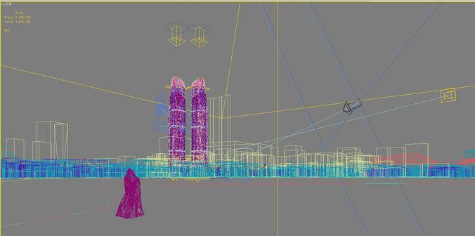 city scene 017 3d model max 3