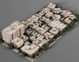 urban 3D model Quarter of the city