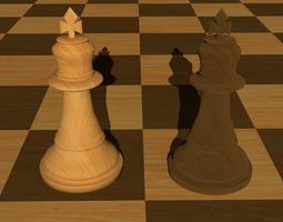 various-models King chess piece 3D model