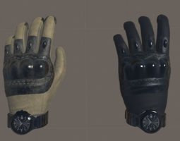 VR Tactical Gloves 3D model