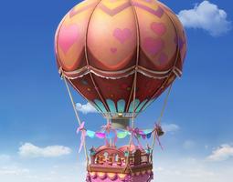 Cartoon Hot Air Balloon 3D