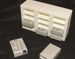3d print model lp-e8 battery 12 slot storage