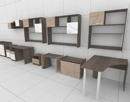 Collections of furniture 3D model