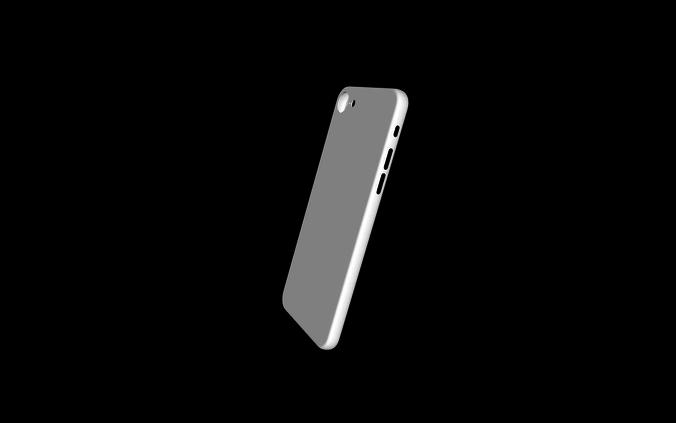 iphone 8 simple case 3d model 3ds stl 1