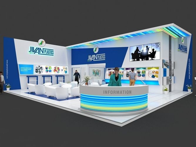 Exhibition Stand 3d Free Download : Exhibition stall d model mtr sides open plastics