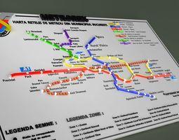 bucharest METROREX 3D MAP - ROMANIA