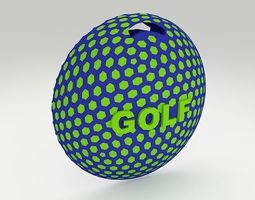 Golf Bag Tag 2 3D Model