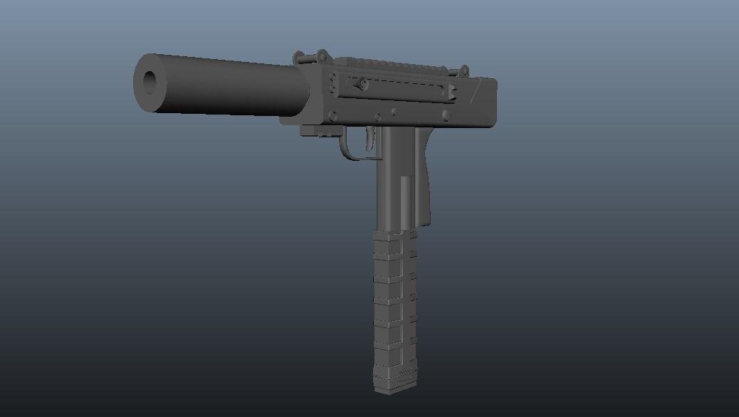 UZI hand gun | 3D model