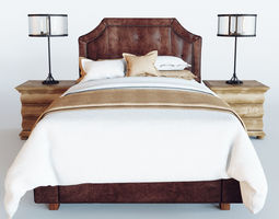 Delano Leather Bed 3D