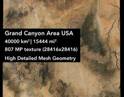 3D Grand Canyon Area USA