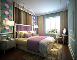 3D Stylish bedroom complete 127