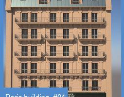 Paris Building 01 3D asset