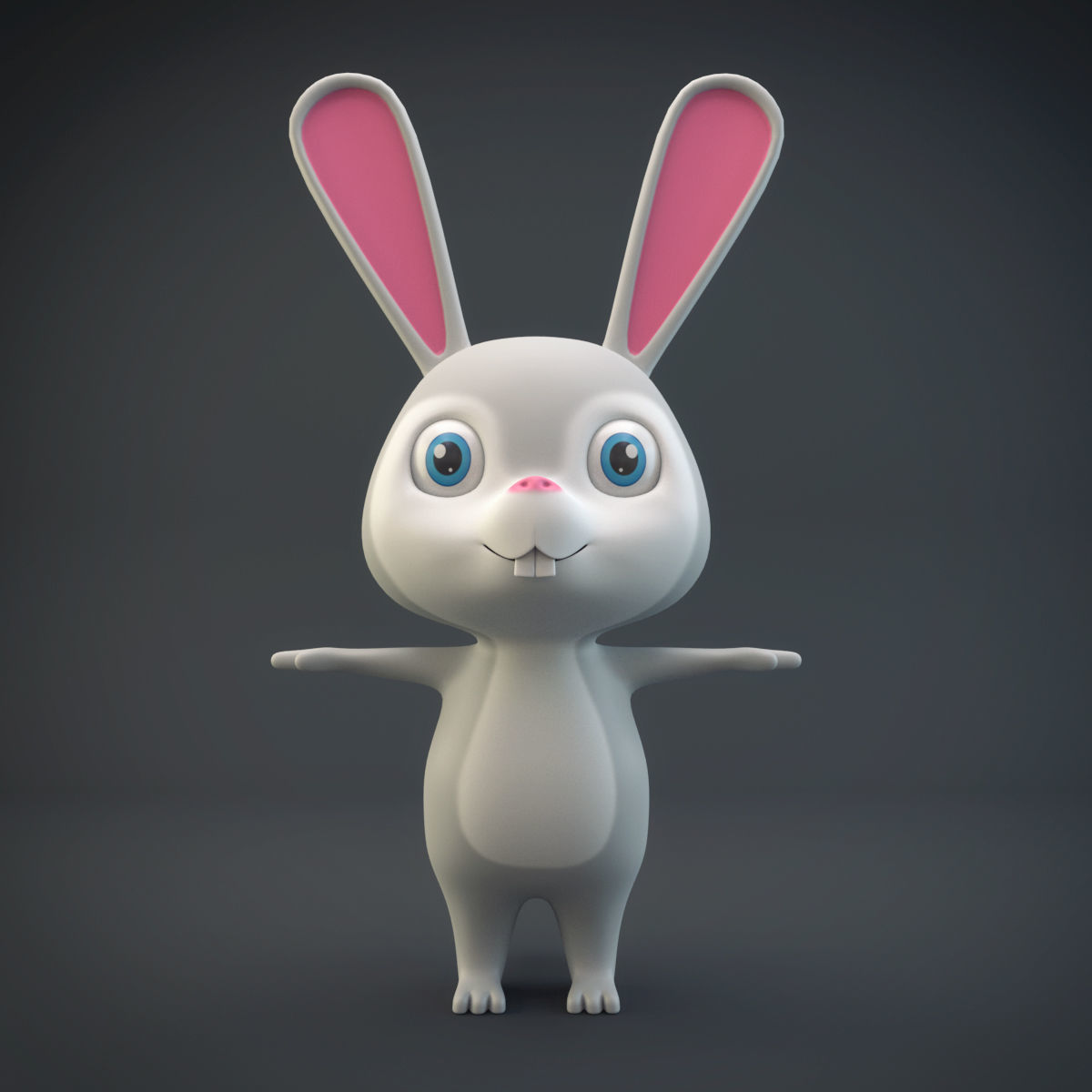 mammal 3D model Cartoon Rabbit | CGTrader