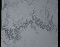 Grand Canyon Area USA Untextured 3D model