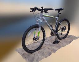 Mountain Bike 3D model low-poly photogrammetry