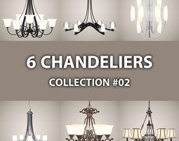 6 Chandeliers 02 3D Model