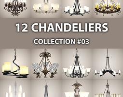 12 Chandeliers 03 3D Model