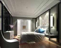 3D Stylish bedroom complete 161