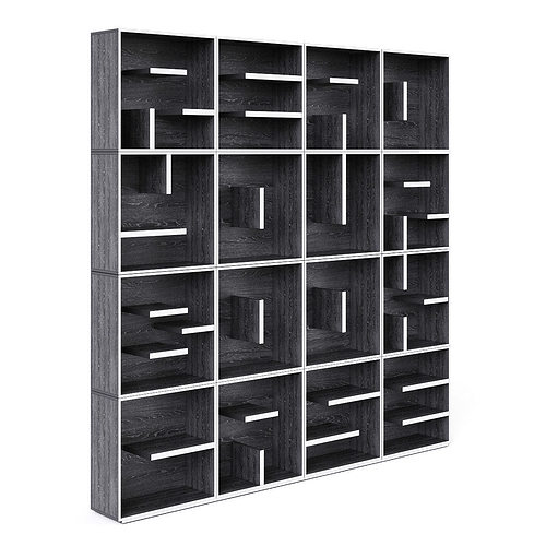 book case 3d model max fbx unitypackage prefab 1