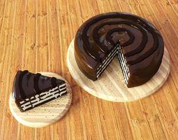 corona Chocolate Cake 3D