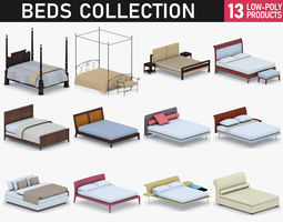 3D model Beds Collection