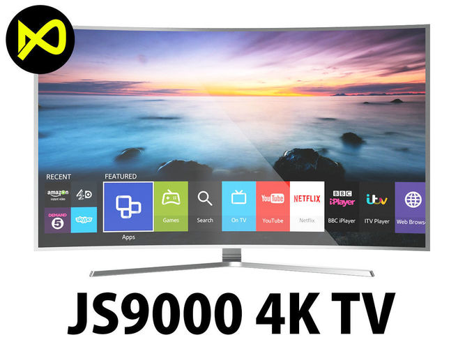 Samsung 65 Inches JS9000 Curved 4K SUHD Smart TV | 3D model