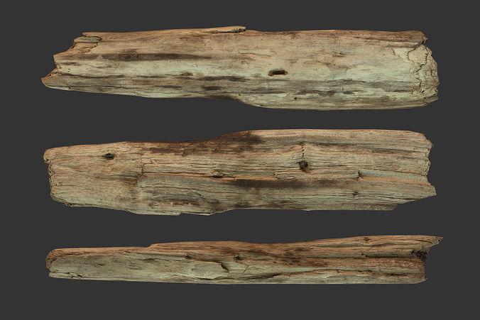 D model broken wood plank cgtrader