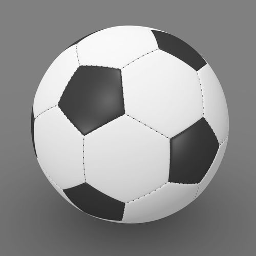 soccer ball 3d model obj mtl fbx ma mb 1