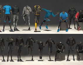 3D model Man mannequin Nike FULL PACK