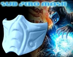 sub zero mask - full size mortal kombat 3d print model
