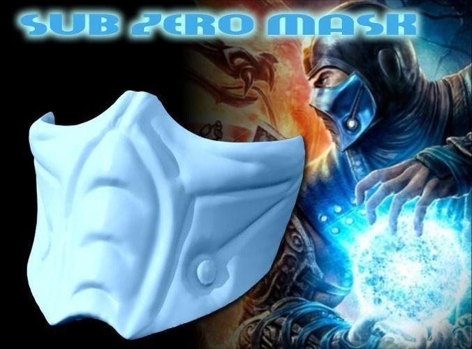 Sub Zero Mask - Full Size Mortal Kombat free 3D Model 3D ...