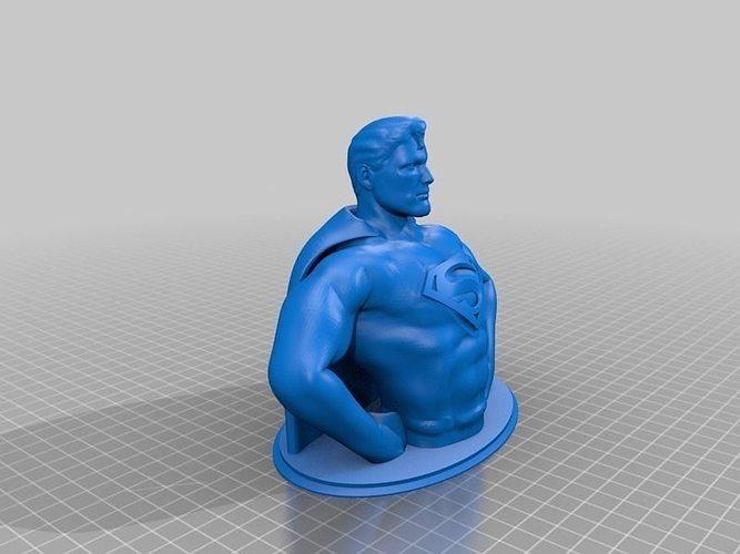 Superman Bust Hd 10mb Free 3d Model 3d Printable Stl