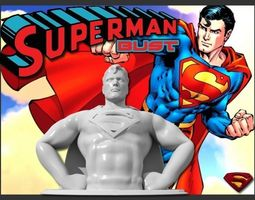 superman bust hd 10mb 3d printable model