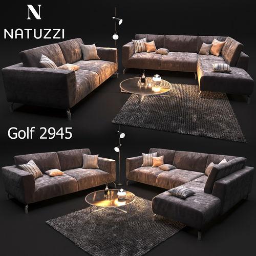 sofa natuzzi golf 2945 3d model max obj mtl 1