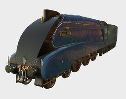 Low Poly PBR Mallard Steam Train 3D asset