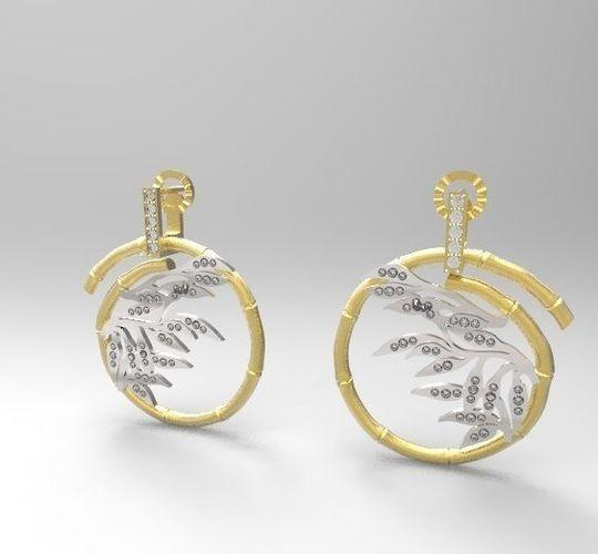 carrera bambu earrings 3d model stl 3dm 1
