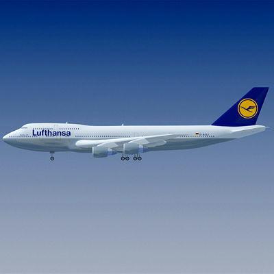 lufthansa german airline 3d model max obj mtl 3ds fbx lwo lw lws ma mb 1