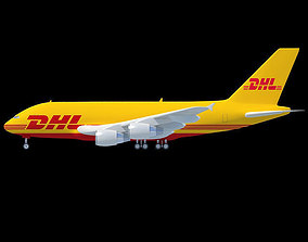 DHL Textured Airbus 3D