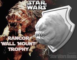 rancor head wall trophy 3d printable model