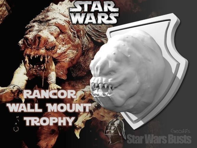 Rancor Head Wall Trophy Free 3d Model 3d Printable Stl Cgtrader Com
