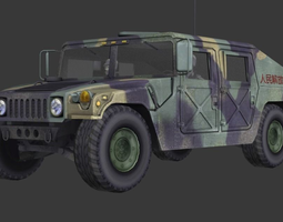 military vehicle 3D model realtime