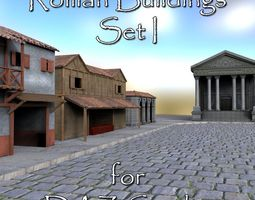 Roman Buildings Set I for DAZ Studio 3D model