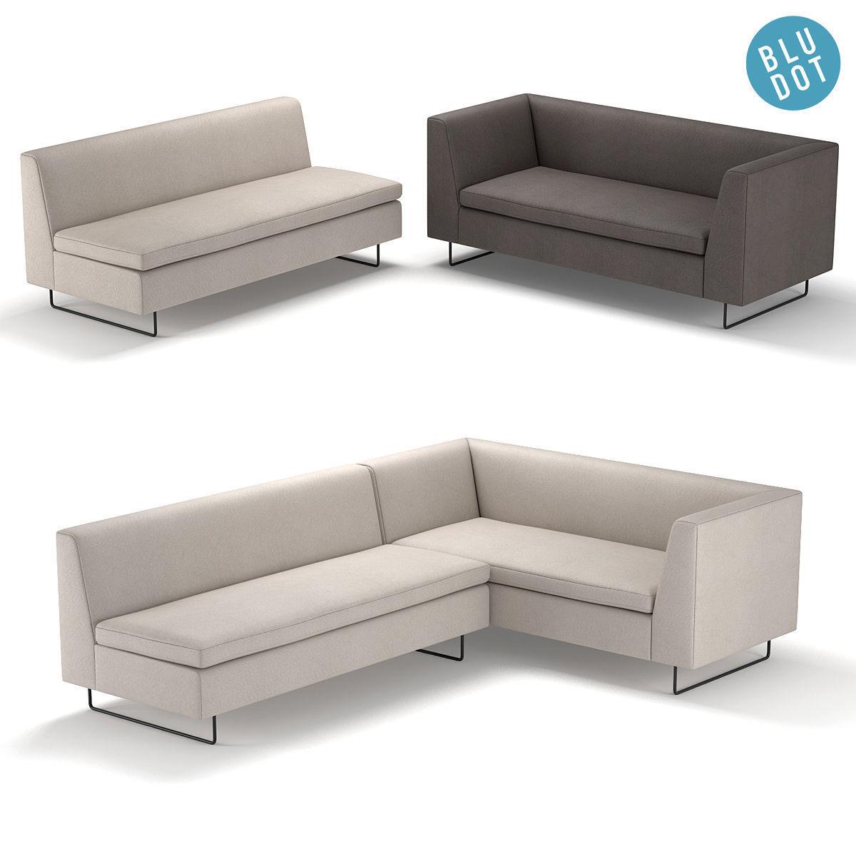 Blu Dot Bonnie and Clyde Sofa | 3D model