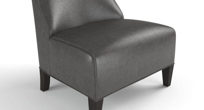 ... Mitchell Gold Iris Leather Chair 3d Model Max Obj Fbx Mtl Mat 5 ...