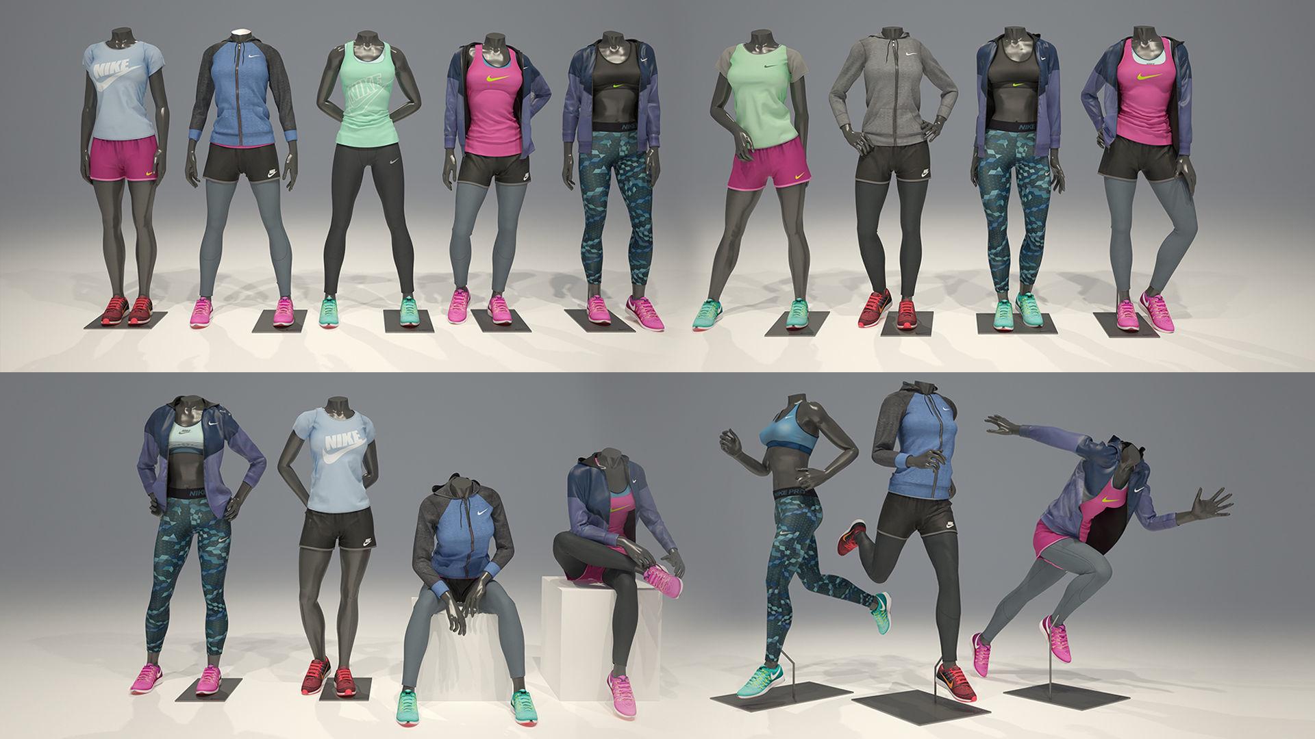 Woman mannequin Nike FULL PACK