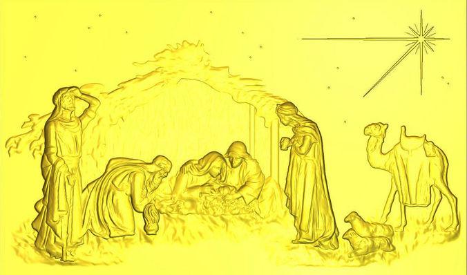 3d printable model xmas nativity scene