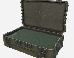 3D model Low Poly PBR Game Ready Military Pelican Case