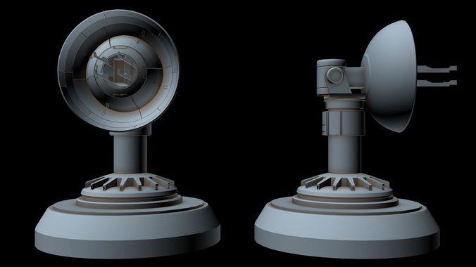 sci-fi radar 6 3d model max 3ds fbx 1