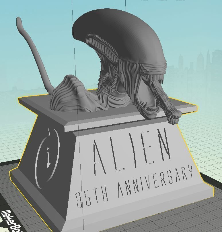 Alien 35th Anniversary Bust 3D printable model | CGTrader