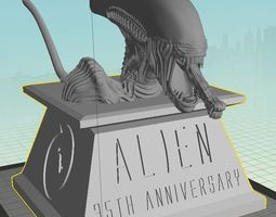 3d printable model alien 35th anniversary bust